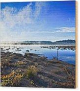 Misty Lagoon Wood Print