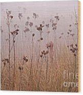 Misty Meadow Wood Print