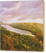 Misty Morning At Lake Of The Clouds Wood Print