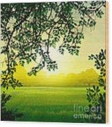 Misty Morning Wood Print by Bedros Awak