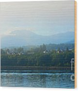 Misty Morning In Port Angeles Wood Print