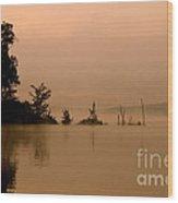 Misty Morning Solitude  Wood Print