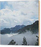 Misty Mountain Colorado Wood Print