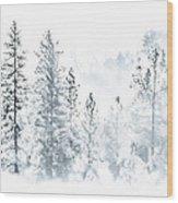 Misty Mountain Wood Print