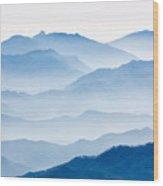 Misty Mountains Wood Print