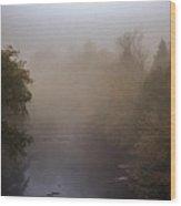 Misty Mtn. Top Wood Print by Paul Herrmann