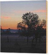 Misty November Morn Wood Print