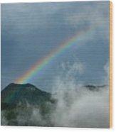 Misty Rainbow Wood Print