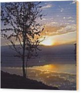 Misty Reflections Wood Print
