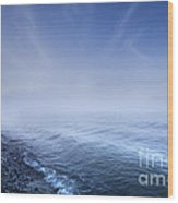 Misty Seaside In The Evening, Mons Wood Print by Evgeny Kuklev