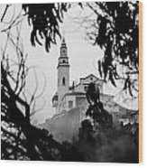 Misty View Of Monserrate Church Wood Print