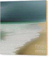 Misty Water Blue Wood Print