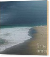 Misty Water Color Blue Too Wood Print