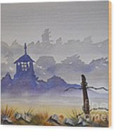 Misty Watercolors Wood Print