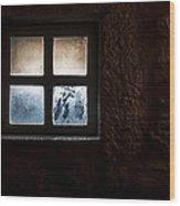 Misty Window Wood Print