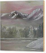 Misty Winter Wood Print