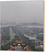 Misty Wuhan Wood Print