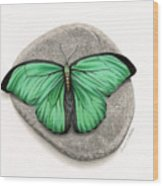 Mito Awareness Butterfly- A Symbol Of Hope Wood Print