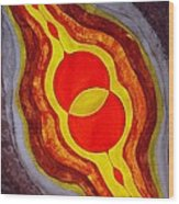 Mitosis Of Worlds Original Painting Wood Print