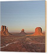 Mittens And Merrick Butte Monument Valley Wood Print