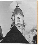 Mittenwald Kirchturm Wood Print