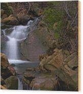 Mix Canyon Creek Wood Print