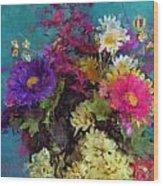 Mixed Bouquet Wood Print