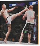 Mixed Martial Arts - A Kick To The Head Wood Print