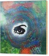 Mixed Media Abstract Post Modern Art By Alfredo Garcia Eye See You Wood Print
