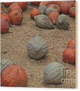 Mixed Pumpkins Wood Print