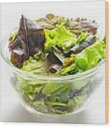Mixed Salad In A Cup Wood Print