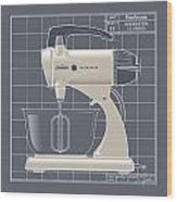 Mixmaster - Ivory Wood Print