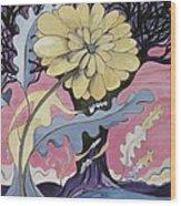 Miz Fleur Wood Print