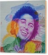 Mj Color Splatter Wood Print by Sruthi Murali