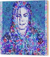 Mj Floral Version 2 Wood Print