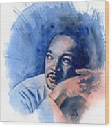 Mlk Day Wood Print