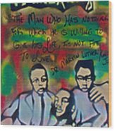Mlk Fatherhood 1  Wood Print