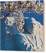 Mlk Memorial Framed By Cherry Blossoms Wood Print