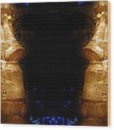 Moai Gold Wood Print