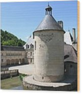 Moated Castle - Bussy Rabutin - Burgundy Wood Print