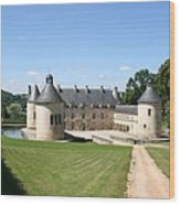 Moated Palace - Bussy-rabutin Wood Print