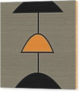 Mobile 2 In Orange Wood Print