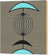 Mobile 3 In Turquoise Wood Print