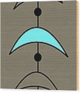 Mobile 4 In Turquoise Wood Print