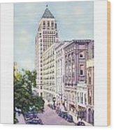Mobile Alabama - North On St. Joseph Street - Merchants National Bank - 1937 Wood Print