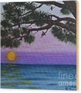 Mobile Bay Sunset Wood Print