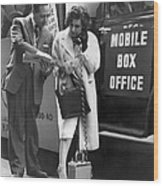 Mobile Box Office Phone Wood Print