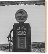 Mobilgas Pumps Wood Print