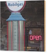 Mobilgas Wood Print
