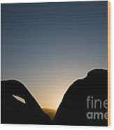 Mobius Arch At Night, Alabama Hills Wood Print